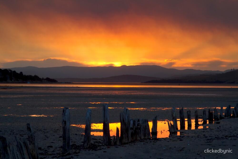 Jetty Gone - Ralphs Bay, Tasmania by clickedbynic