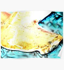 ART FOR SHARKS ~ HAMMERED BY HUMANS Poster
