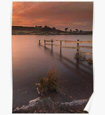 Frozen Sunrise on Knapps Loch Poster
