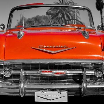 classic red vintage chevvrolet convertible by giveaphuk