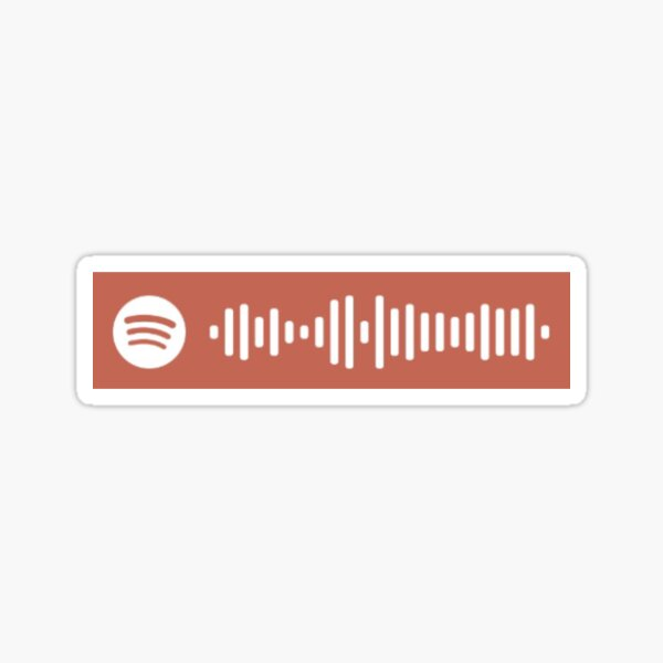 we fell in love in october by girl in red spotify code Sticker