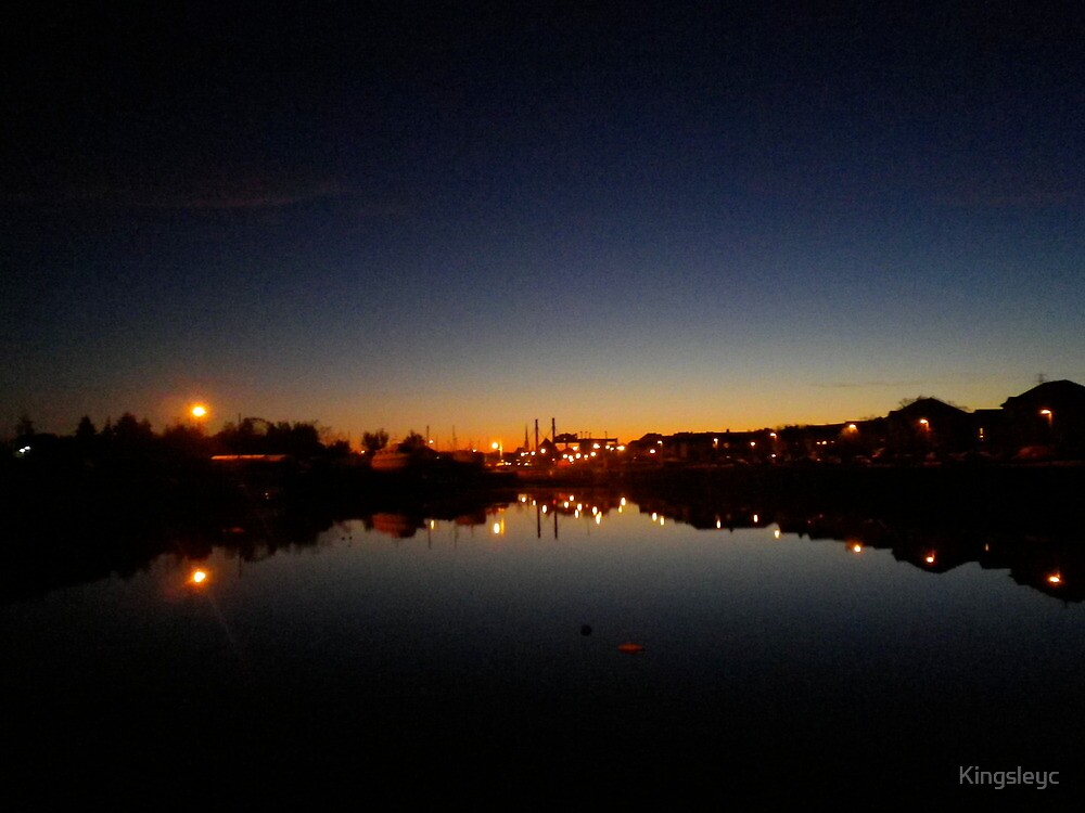 Preston Smaller Dock Cold Morning by Kingsleyc