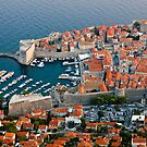 Old Harbor of Dubrovnik in Croatia by kirilart