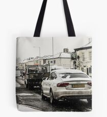 Audi In The Snow Tote Bag