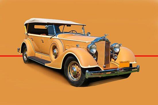 1934 Packard Touring Super Eight w/o ID by DaveKoontz