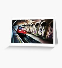 London Tube Train Greeting Card