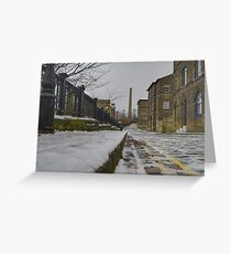 Saltaire Snow Greeting Card