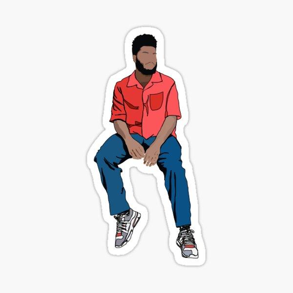 Khalid minimalistic sticker Sticker