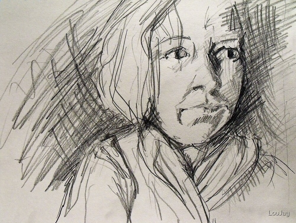 scribbling self by LouJay