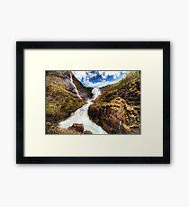 Flam Waterfall Framed Print