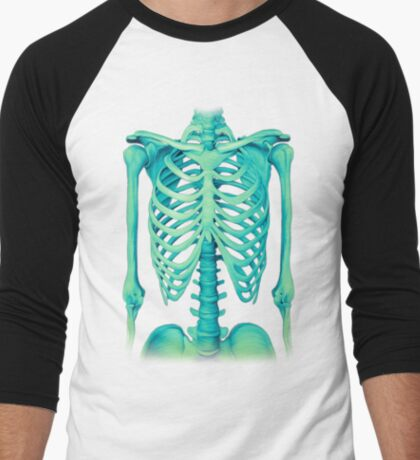 Skeleton Men's Baseball ¾ T-Shirt