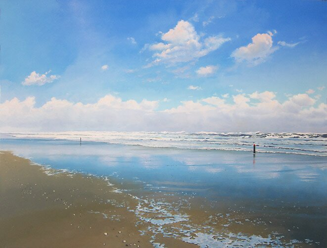 Two Beach Poles by Janhendrik Dolsma