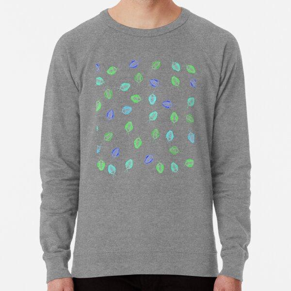 Blue and Green Trilobite Fossil Pattern Lightweight Sweatshirt