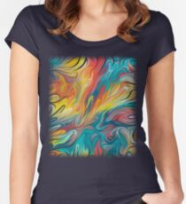 Abstract Colors II Women's Fitted Scoop T-Shirt