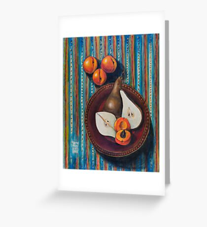 Bosc Pears and Apricots for Elaine Greeting Card