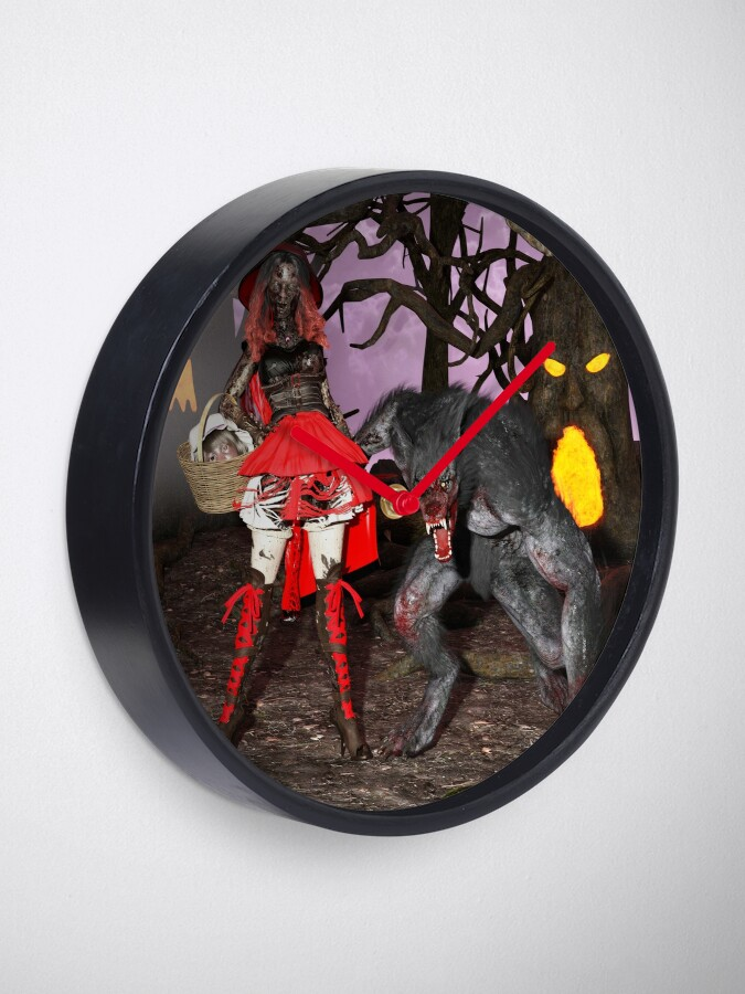 Alternate view of Ghastly Wicked Tales: Little Red Zombie Hood Clock