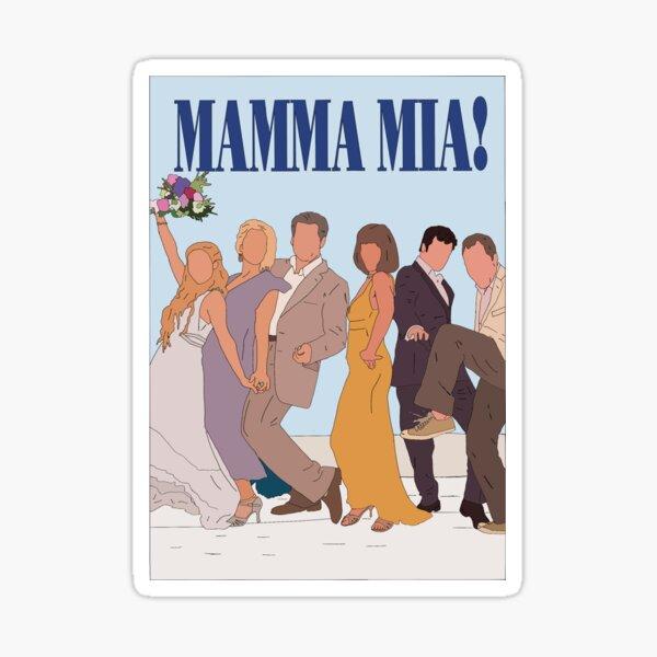 Esquema del póster Mamma Mia Pegatina