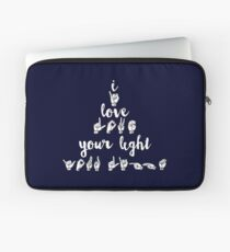 I Love Your Light - Navy Laptop Sleeve