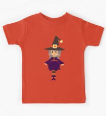 Cute Witch with Silver Hair Kids Clothes