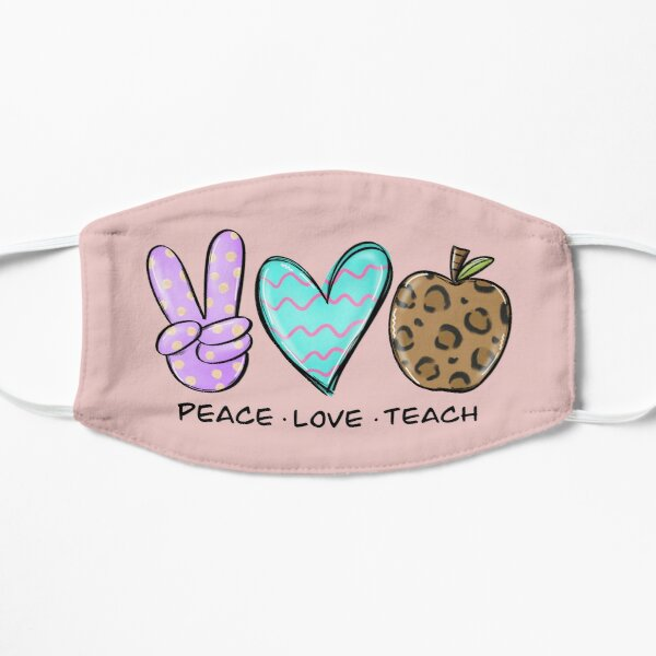 peace love teach Mask