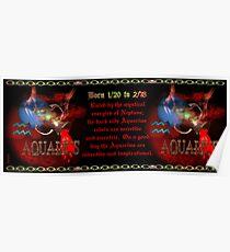 Valxart Gothic Aquarius zodiac astrology  Born 1/20 to 2/18 Poster