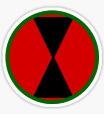 Logo of the 7th Infantry Division, U.S. Army Sticker