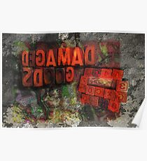 damaged goods calendar back cover Poster