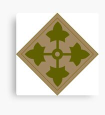 Logo of the Fourth Infantry Division, U. S. Army Canvas Print