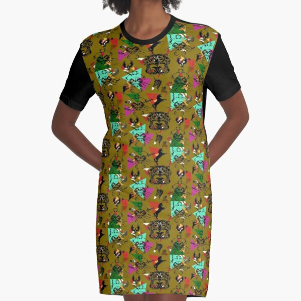 Fantasy Landing Graphic T-Shirt Dress