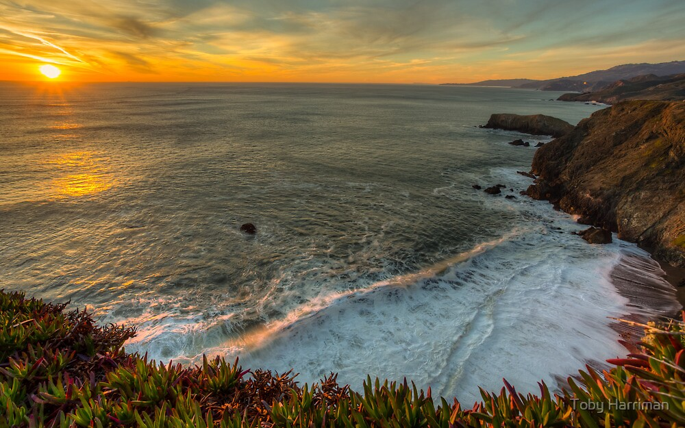 Point Bonita Sunset by Toby Harriman