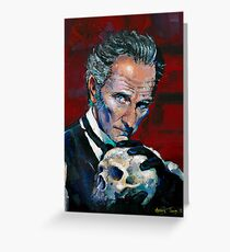 Peter Cushing - Baron Frankenstein Greeting Card