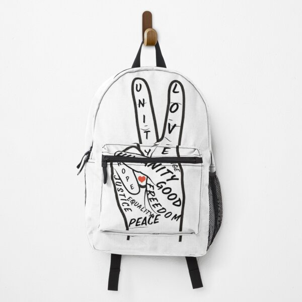 Peace, Love, Unity Hand Sign Backpack