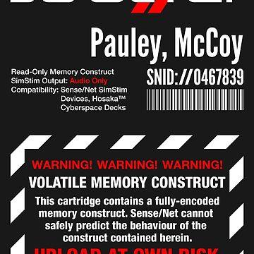 Dixie Flatline Warning Label - Sticker by WolfeCreative
