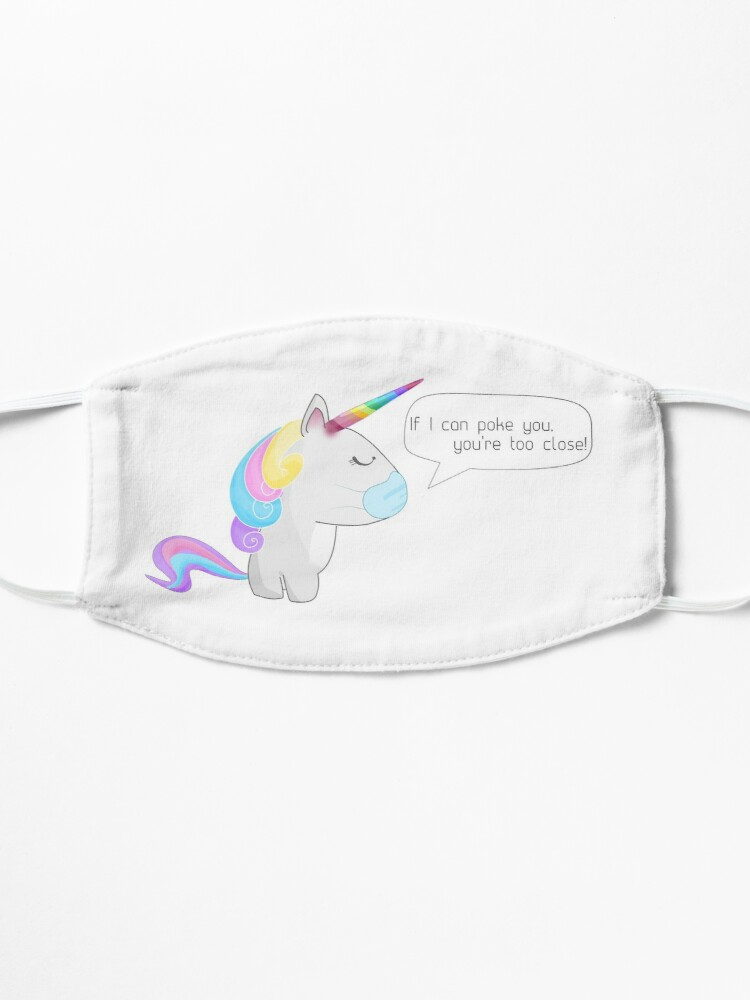 Alternate view of Social Distancing Unicorn Mask