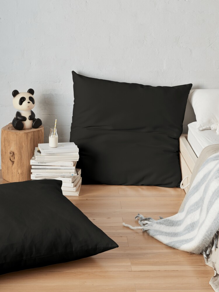 Alternate view of Black is the most beautiful color Floor Pillow