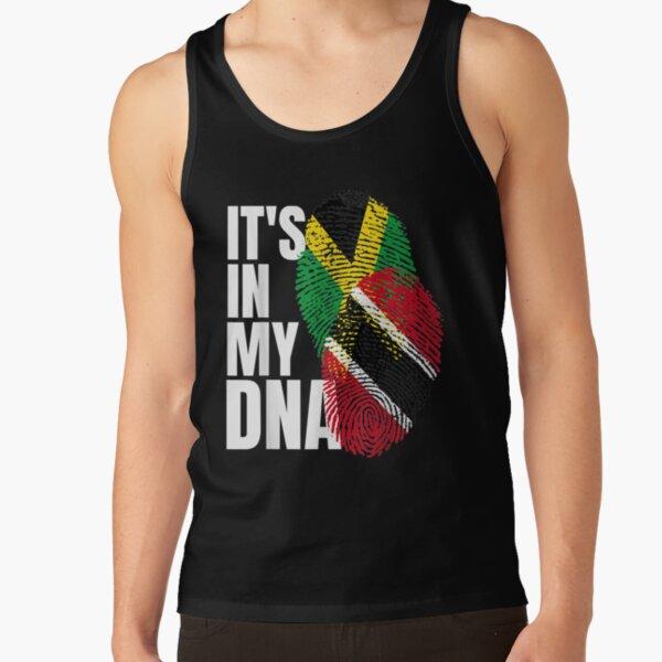 Trinidadian Plus Jamaican Mix DNA Flag Heritage Gift  Tank Top