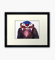 lucha monkey 2 Framed Print