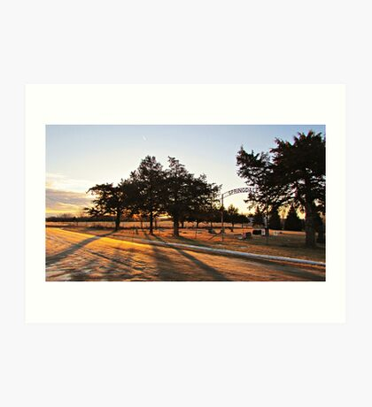 Sunrise at Springdale Art Print
