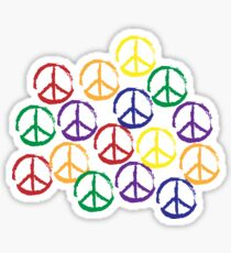 Peace Sign in all colors Sticker
