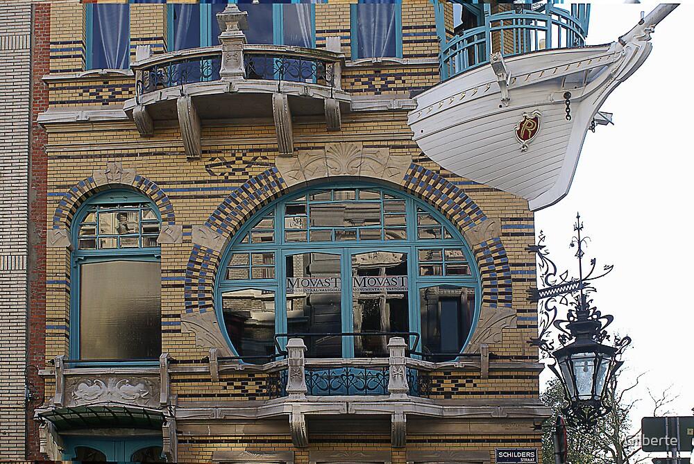 Art Nouveau Window - Antwerp by Gilberte