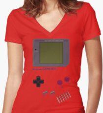 Nintendo GAME BOY Women's Fitted V-Neck T-Shirt