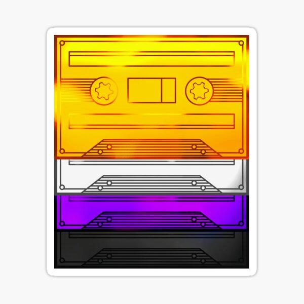 Cassette Tapes - Nonbinary Pride Sticker