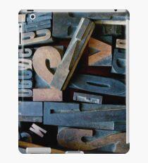 """Typesetting - Letter """"V"""" iPad Case/Skin"""