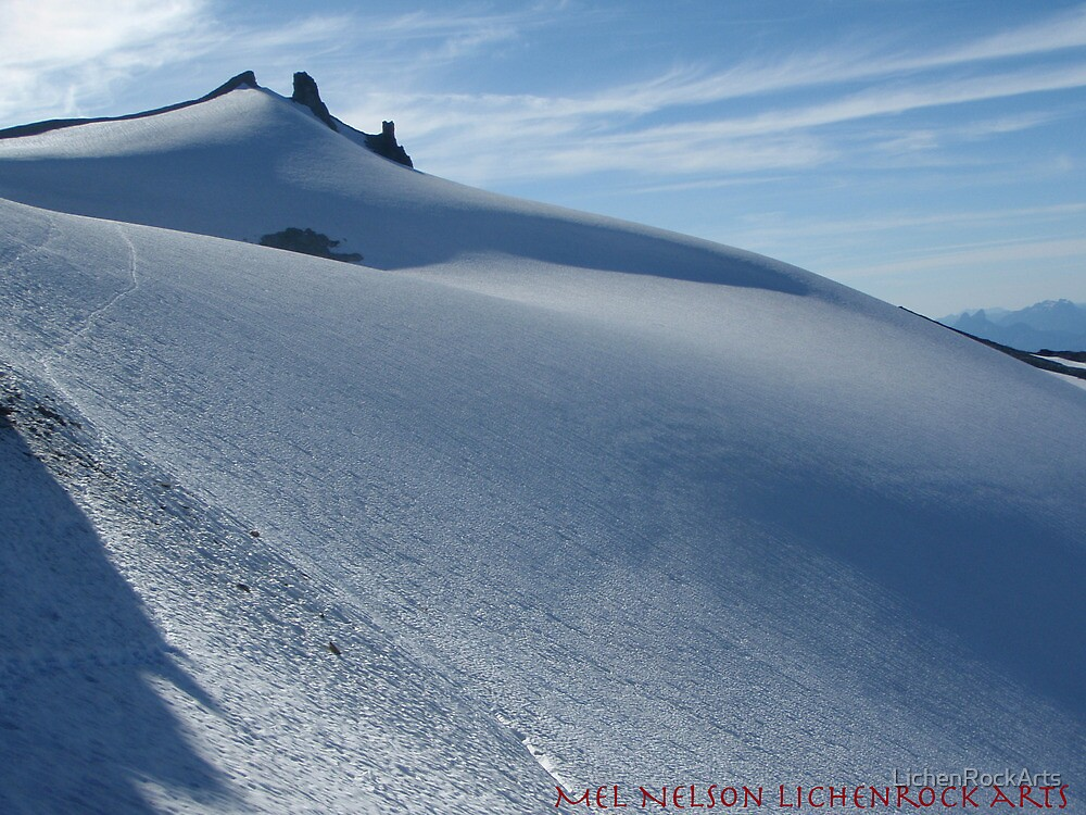 Snow smooth as butter, Mt Daniels, Cascade mountains, Washington by LichenRockArts