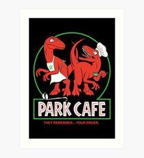 Raptors in the Kitchen Art Print