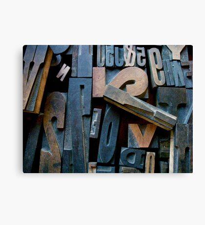 "Typesetting - Letter ""!"" Canvas Print"