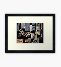 "Typesetting - The Letter ""E"" Framed Print"