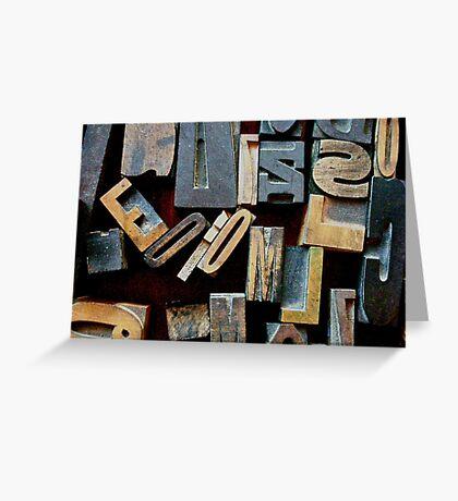 "Typesetting - The Letter ""E"" Greeting Card"