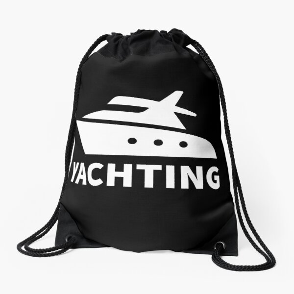 Boat yachting Drawstring Bag