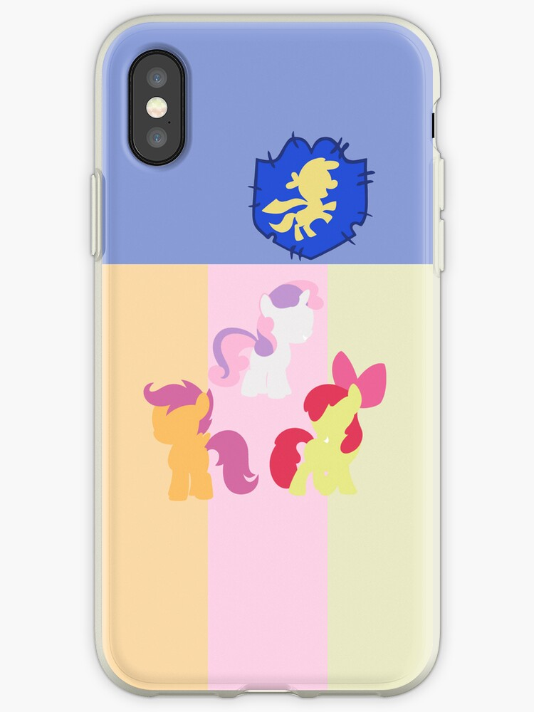 Simple Cutie Mark Crusaders iPhone Case by TehCrimzonColt